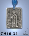 SILVER PLATED HANGING CHARM WITH ICON. ST. PARASKEVI