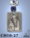 SILVER PLATED HANGING CHARM WITH ICON. ST. STYLIANOS