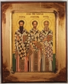 Greek Orthodox Icon of St. Basil, St. John Chrysostom and St. Gregory (available in 4 sizes starting at $20.00)