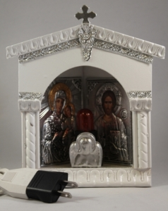 Home Iconostasis Lighted Icon - Corner Mount