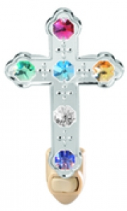 Chrome Plated Large Cross Night Light with Swarovski Cyrstals (available in 3 colors)