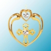 Cross in Heart Christmas Ornament