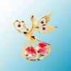 Angel with Heart Christmas Ornament (available in clear or 6 colors)
