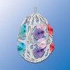 Chrome Plated Egg Ornament with Swarovski Cyrstals (available in 7 Colors)