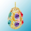 Gold Plated Egg Ornament with Swarovski Crystals (Available in 7 colors)