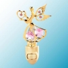 24k Gold Small Angel Night Light with Swarovski Crystal