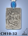 SILVER PLATED HANGING CHARM WITH ICON. ST. GEORGE