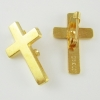 Gold Plated Cross Pin