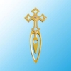 Gold Plated Cross Bookmark