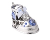 Baby Shoe with Blue or Pink Swarovski Crystals