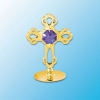 24K Gold Plated Mini Cross on Stand (3 Colors)