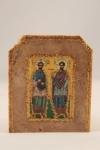 Saints Cosmas and Damian Marble Icon (available in 3 sizes starting at $40.00)