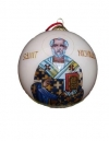 St. Nicholas Christmas Ornament - White