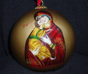 Theotokos (Virgin Mary) Christmas Ornament