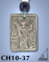 SILVER PLATED HANGING CHARM WITH ICON. ST. ANDREAS