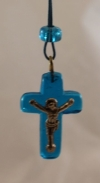 Small Glass Cross (available in 3 colors)