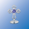 Chrome Plated Mini Cross on Stand (3 Colors)