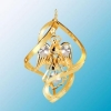 Angel with Heart Classic Spiral Christmas Ornament with Clear Swarovski Crystals