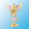 Angel with Flowers on Stand (available in 6 colors)