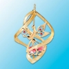 Angel with Heart Classic Spiral Christmas Ornament (available with Clear, Blue or Red Swarovski Crystals)
