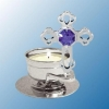 Cross Tea Light Candle Holder (available in Blue or Purple)