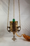 Hanging Oil Candle - Brass