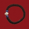 33 Knot Wool Prayer Rope with Blue Beads