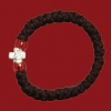 33 Knot Wool Prayer Rope with Red Beads