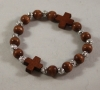 Wood Cross Prayer Bracelet