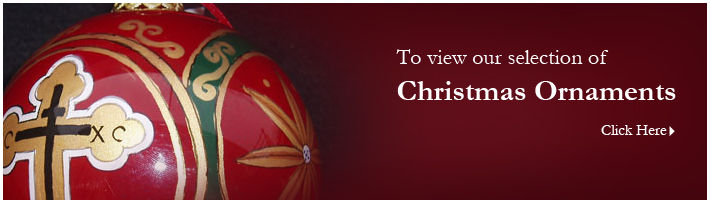 Click to view our selection of Christmas ornaments.