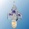 Chrome Plated Church Night Light with Swarovski Crystals (available in 2 Colors)